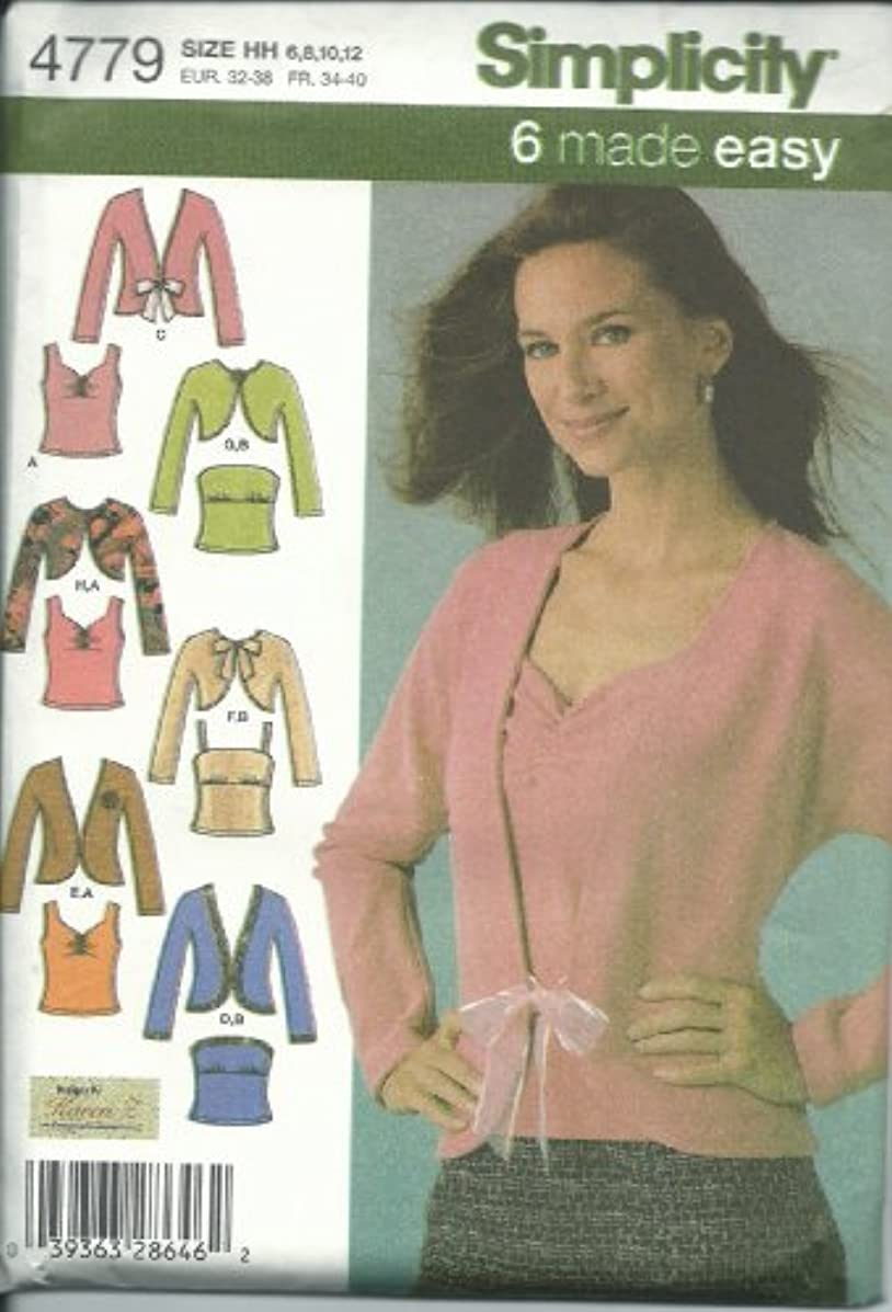 Simplicity 4779HH Sewing Pattern Misses 6 Easy Tops Size 6-12