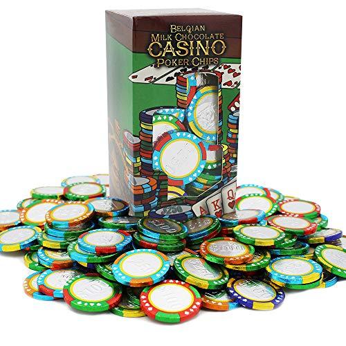Casino Poker Chips - Belgian Milk Chocolate Coins - OUD Kosher, Non GMO (1LB, Approx. 100 Pcs)