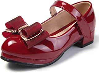 通用 HB Girls Princess Ballet Shoes Plat Glitter Sandal Dance Party Shoes School for Dress