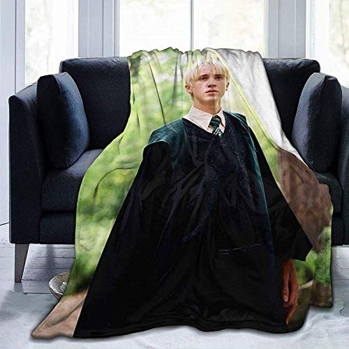shenguang Draco-Malfoy Blanket Ultra-Soft Bed Skin-Friendly Flannel All Seasons for Bedroom Sofa Comfortable Weighted Blankets and Throws (Draco-Malfoy, 50X40In)