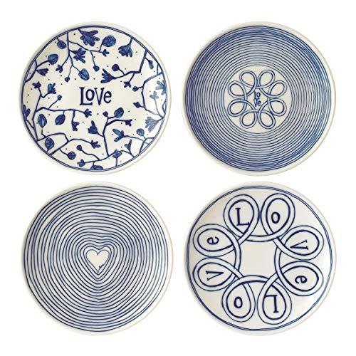 Royal Doulton Teller 16cm Love Set/4, Porzellan, Blau, 19,3x 6,5x 19cm