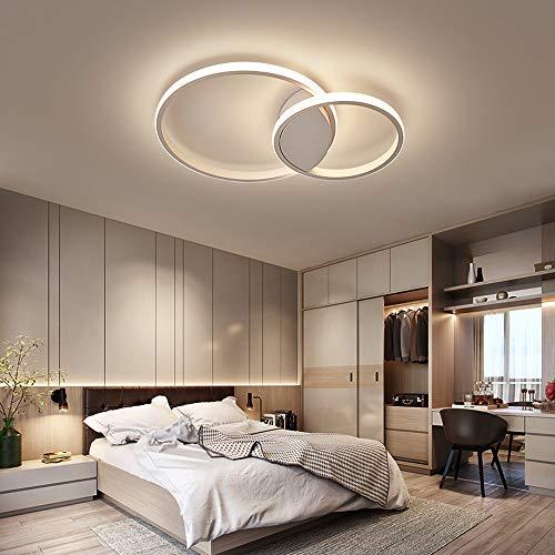 Ring Design plafondlamp, ronde led, aluminium plafondlamp, minimalistisch, afstandsbediening, dimbaar, plafondverlichting, 3000-6000 K, acryl, lamp, eetkamer, woonkamer, slaapkamer