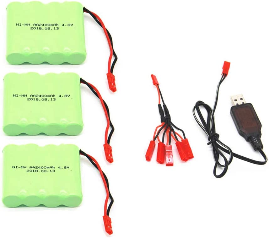 4.8V 2400mAh At the price Battery with 5in1 Under blast sales Charger Remote for Toy Control Li