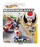 Hot Wheels GBG30 - Mario Kart Replica 1:64 Die-Cast Spielzeugauto Toad, Spielzeug ab 3 Jahren -