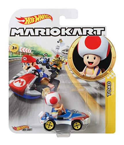 Hot Wheels GBG30 - Mario Kart Replica 1:64 Die-Cast Spielzeugauto Toad, Spielzeug ab 3 Jahren