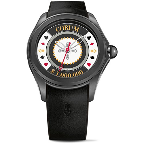 Corum Bubble 47 Casino Chip 88 Piece Limited Edition Steel Rubber Mens Automatic Watch 082.310.98/0371 CH01