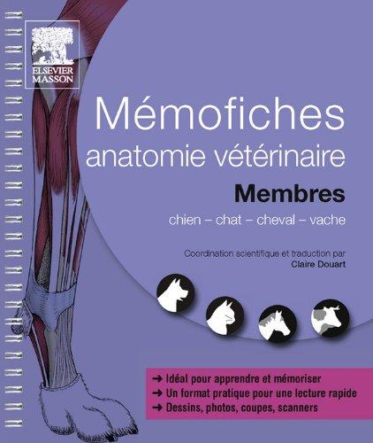 Book's Cover of Mémofiches anatomie vétérinaire - Membres (Hors collection) Format Kindle