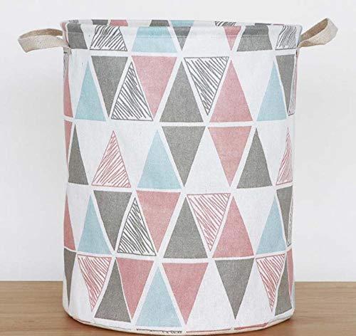 sufengshop Wasmand kleurrijke driehoek bergkleding opvouwbare grote capaciteit kleding opbergtas kinderspeelgoed opbergemmer waterdicht 33x42cm