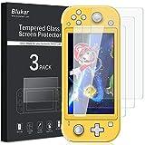 Blukar Protector Pantalla Nintendo Switch Lite(2019), [3 Pack] Vidrio Cristal Templado 9H Dureza, Alta Definición, Anti-Arañazo, Instalación Fácil con Kit de Limpieza para Nintendo Switch Lite(2019)