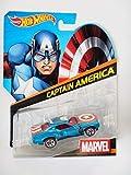 Hot Wheels Marvel Character Car Captain America Die-Cast Vehicle