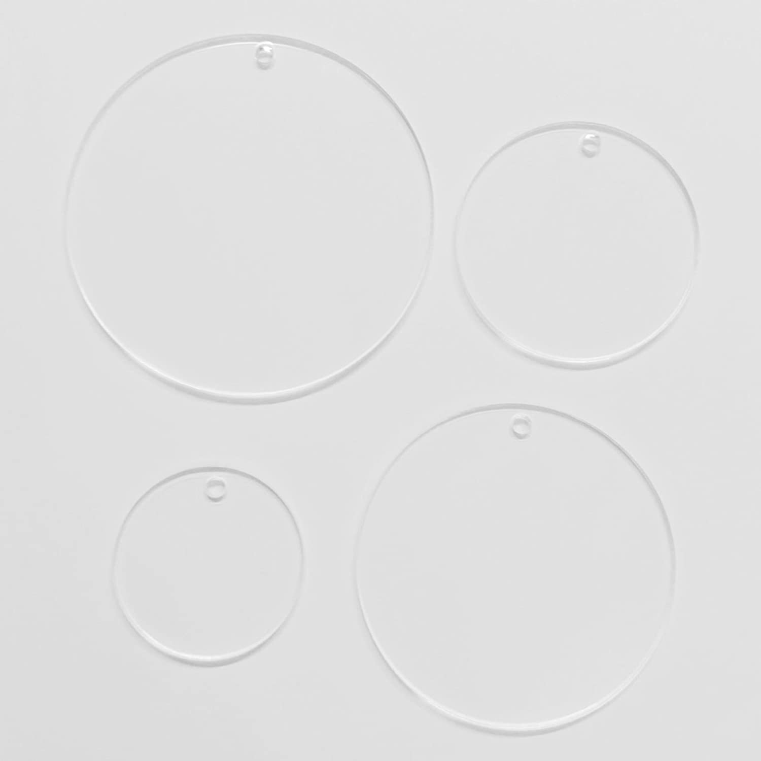 3 - Laser Cut Clear Round Blanks for Vinyl Projects Includes Free SVG Files 3 25 Cast Acrylic Blanks Blank Keychains and DIY Crafts Acrylic Ornaments