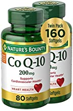 Nature's Bounty CoQ10 Dietary Supplement, Supports Cardiovascular and Heart Health, 200mg Twin Pack, 160 Rapid Release Softgels