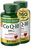 Nature's Bounty CoQ-10 Dietary Supplement, Supports Cardiovascular and Heart Health, 200mg Twin Pack, 160 Rapid Release Softgels
