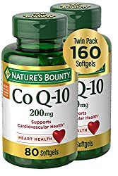 top 10 coq Nature's Bounty CoQ10, Dietary Supplement, Supports Heart Health, 200 mg Double Pack, 160 Capsules
