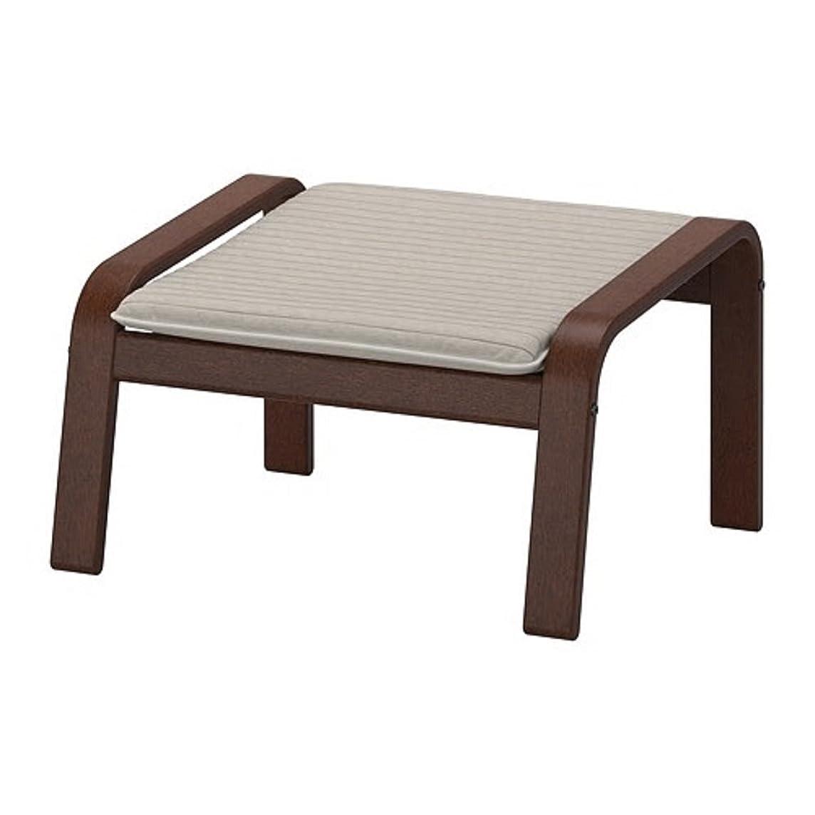 引っ張る開拓者拷問IKEA/イケア POANG/ポエング:フットスツール ブラウン/クニーサ ライトベージュ (892.446.84)