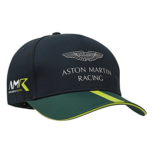 Aston Martin - Casquette de baseball 2018 Racing Team pour adulte Bleu marine et verte Taille unique