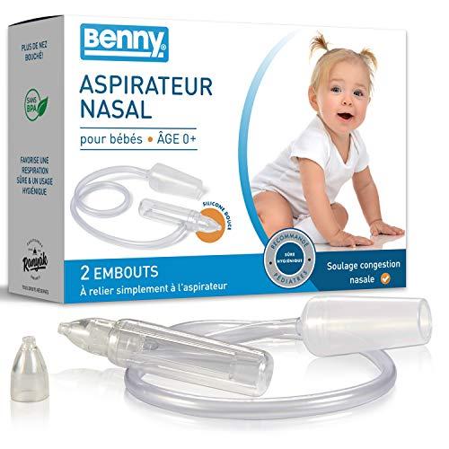 Mouche bebe avec régulation automatique d'aspiration - 0% BPA, aspirateur nasal sans alimentation électrique directe