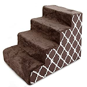 USA Made Pet Steps/Stairs with CertiPUR-US Certified Foam for Dogs & Cats by Best Pet Supplies