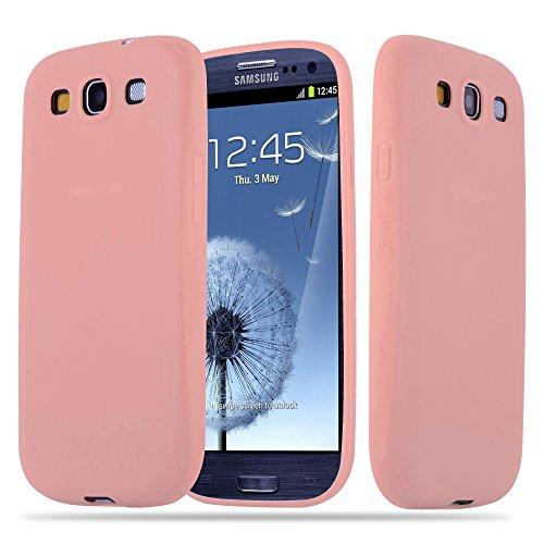 Cadorabo Custodia per Samsung Galaxy S3 / S3 Neo in Candy Rosa - Morbida Cover Protettiva Sottile di Silicone TPU con Bordo Protezione - Ultra Slim Case Antiurto Gel Back Bumper Guscio