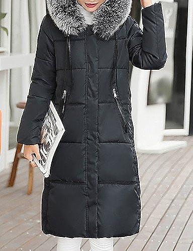 ZHUDJ Long Long Down Coat,Occasionnels Simple Chaque Jour De Solides  magasin fait l'achat et la vente