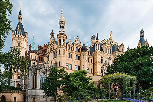 N\A Jigsaws 1000 Pieces for Adults Germany Castles Schwerin Castle Designpuzzles for Adults 1000 Pieces