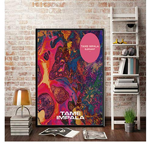 ZJYWYCN Poster Tame Impala Psychedelic Rock Music Band Tour Poster e Stampe Art Canvas Painting Immagini a Parete Home Decor 50 * 70cm No Frame