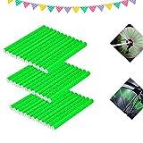 ETHEL Reflektierende Fahrrad Speichen,36 Stcke Clips Fahrrad,360° Sichtbarkeit Reflektoren,für Speichenreflektoren für Sicheres Fahren,Fahrrad Dekoration (Grün)