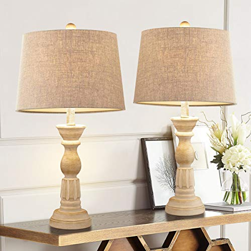 Oneach Table Lamps Set of 2 for Living Room Bedside Desk...