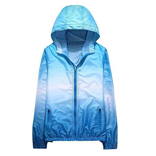 Ensembles de Famille de Veste à Capuchon d'été de Protection UV, Manteau extérieur de Coupe-Vent léger à séchage Rapide d'arc en Ciel