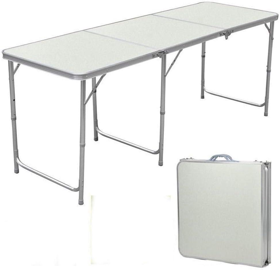 Lovinland Aluminum Folding Table Boston Mall Portable Miami Mall Camping 6 Foot