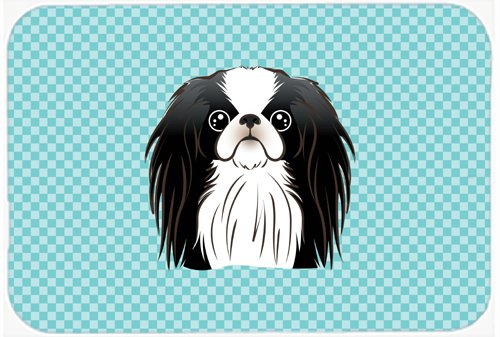 Caroline's Treasures BB1168MP Checkerboard Blue Japanese Chin Mouse Pad, Hot Pad or Trivet, Large, Multicolor