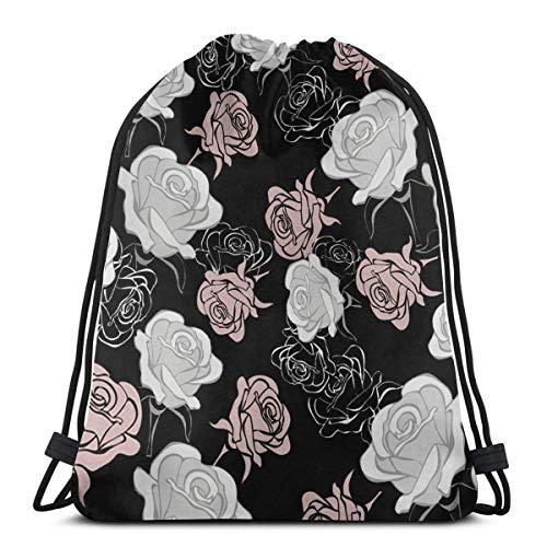 Mochila con cordón rosa para mujer, rosa (b) (Rosa) - 9056803444948