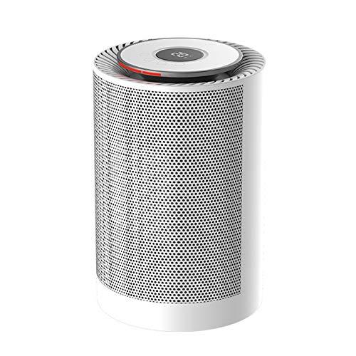 XXY Zylindrische Keramikheizung Wind Turbine Heiße Luftgeschwindigkeit Geschwindigkeit Mini Heizung Elektrischer Heizung Für Tragbare Heizung Home Office (Color : White)