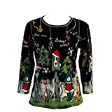 Jess & Jane Bow Wow Christmas Top for Women