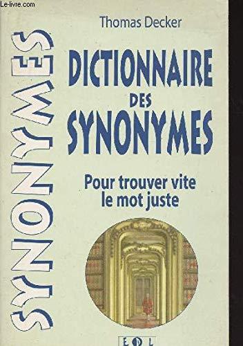 Dictionnaire des synonymes (Dictionnaires)