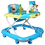 Goyal's Baby Musical Walker - Foldable & Height Adjustable - Blue (Made in India)
