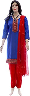 Readymade Indian Embroidery Salwar Kameez for Women in Blue