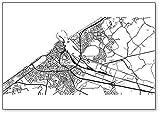 Kühlschrankmagnet, Stadtkarte von Ostend, Belgien