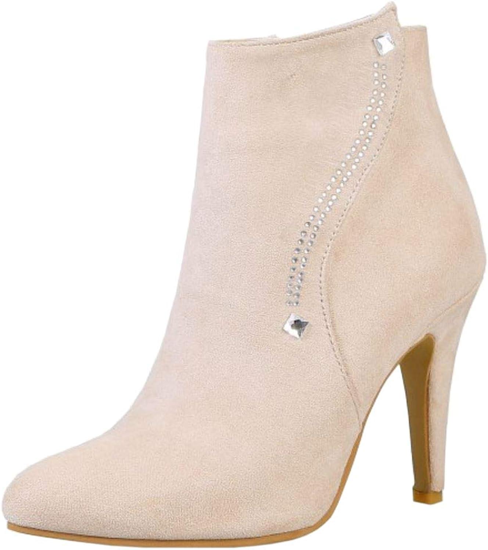 Melady Women Elegant Bootie Boots Zipper shoes Heels