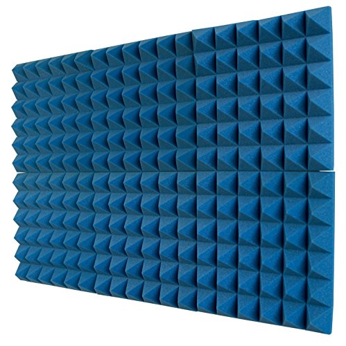 Foamily 6 Pack - Ice Blue/Charcoal Acoustic Foam Sound...