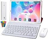 DUODUOGO T30 Tablet 10.1 Pulgadas 5G WiFi, 4GB RAM + 64GB ROM Quad-Core 1.6GHz Tableta 5G WiFi Ultrar-Rápido Android 10.0   Dual 5MP cámara Type-C, GMS Certificación Google (Rojo)