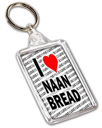 Ik hou van Naan Brood Sleutelhanger - Gift - Verjaardag - Kerstmis - Stocking Filler