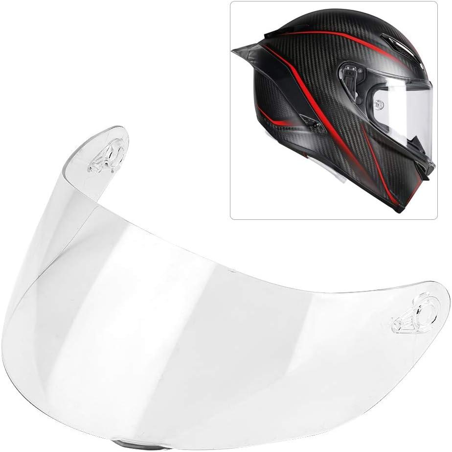 protector de cara completa para AGV K1 K3 SV K5 K5-S protector de viento para motocicleta Visera de casco con protecci/ón abatible Aukson visera de lente de casco plateado