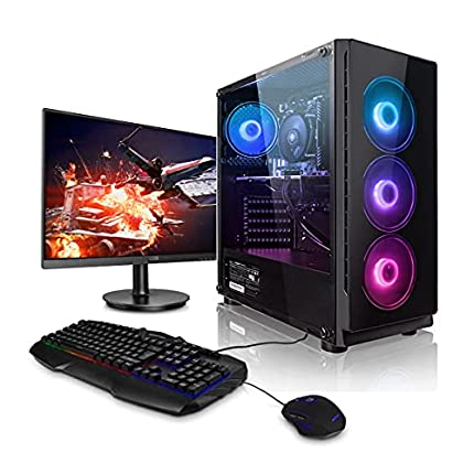 """Pack Gaming - Megaport PC AMD Ryzen 5 3600 • 24"""" Full-HD • Teclado y ratón Gaming • GeForce GTX1660 Super 6GB • Windows 10 • 16GB DDR4 • 1TB HDD • 240GB SSD • PC Gamer • Ordenador de sobremesa"""