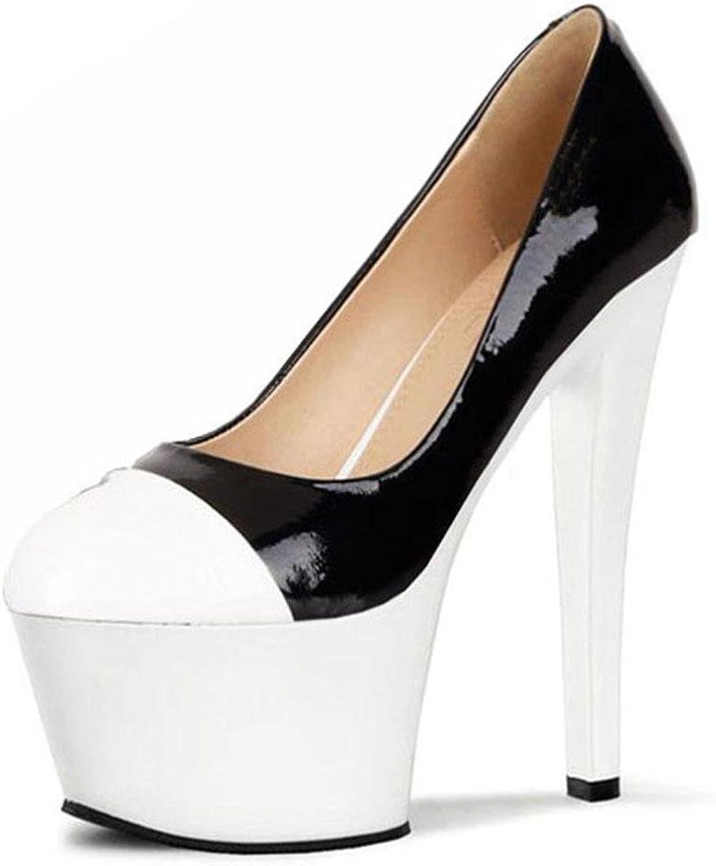 L@YC Frauen High Heels Nachtclub cool Schuhe 17cm Hochzeit Damenschuhe