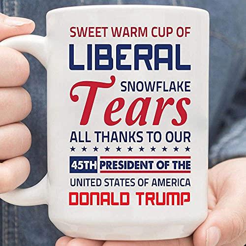 N\A Lágrimas liberales Taza cálida Dulce de lágrimas de Copo de Nieve liberales Taza