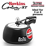 Hawkins CXT30 Contura Hard Anodized Induction Compatible Extra Thick Base Pressure Cooker, Black, 3L, 3 L