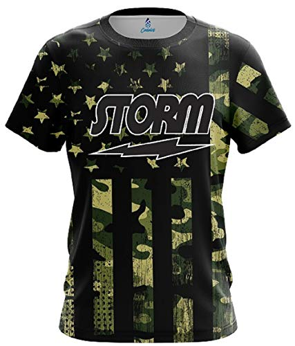 CoolWick Storm Camouflage Flag Bowling Jersey (Medium)