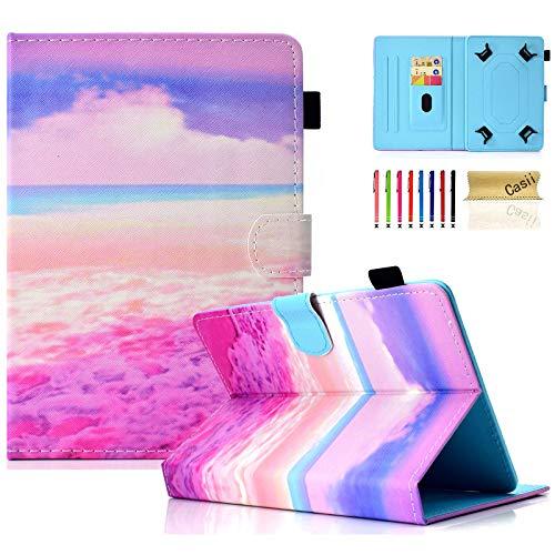Casii - Funda universal para tablet de 9,5 a 10,5 pulgadas, funda protectora delgada para Apple iPad/Samsung Tab/Kin dle F ire/Lenovo/Huawei MediaPad/Asus Zenpad 9.7 10 10.1 10.5 pulgadas, color rosa
