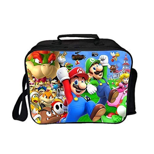 Qushy Super Mario Lunch Box Lunch Bag Adults Type (Brothers)